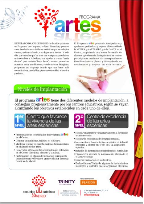 programa artes Santa Rita