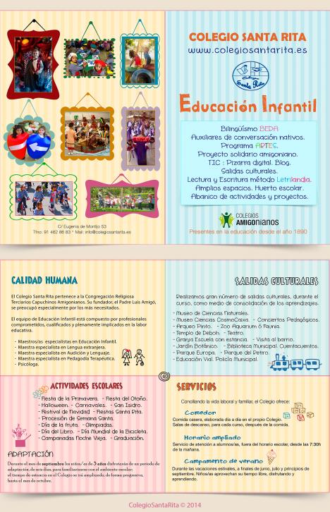Díptico Educ Infantil SANTA RITA 2014